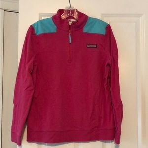 Hot pink and turquoise shep shirt